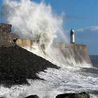 Buy canvas prints of Porthcawl Lighthouse by Matthew Bates
