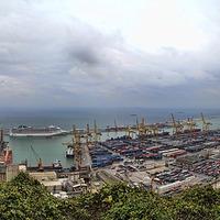 Buy canvas prints of Barcelona Port by Matthew Bates