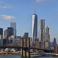 Buy canvas prints of Downtown Manhattan  by Matthew Bates