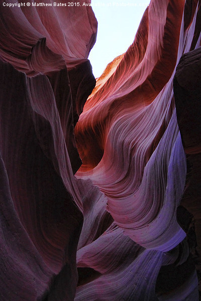 Antelope Canyon Lines Framed Mounted Print by Matthew Bates