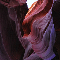Buy canvas prints of Antelope Canyon Lines by Matthew Bates