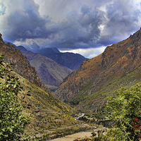 Buy canvas prints of Andean Valley by Matthew Bates