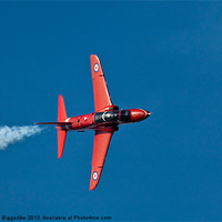 Buy canvas prints of Red Arrow in flight by John Biggadike