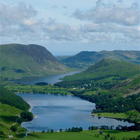 Buy canvas prints of Buttermere from Haystacks by John Biggadike