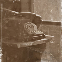 Buy canvas prints of Old Phone by Jules Camfield