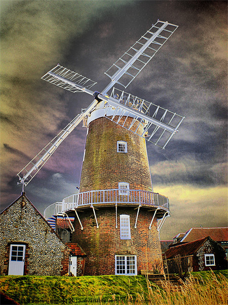 Cley Windmill Framed Mounted Print by Jules Camfield