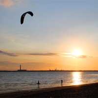 Buy canvas prints of Kite Surfer by Jules Camfield