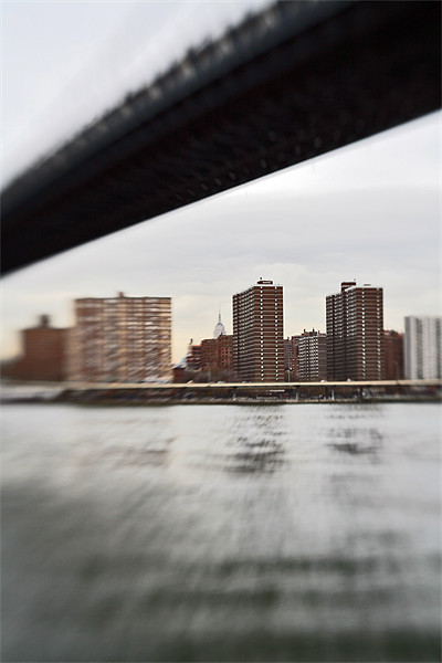 Manhattan view from Brooklyn Framed Mounted Print by Tom Hall