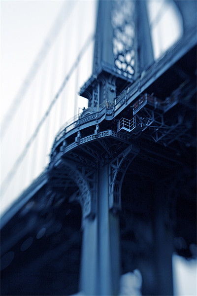 Manhattan Bridge Moments V Framed Mounted Print by Tom Hall