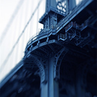 Buy canvas prints of Manhattan Bridge Moments V by Tom Hall