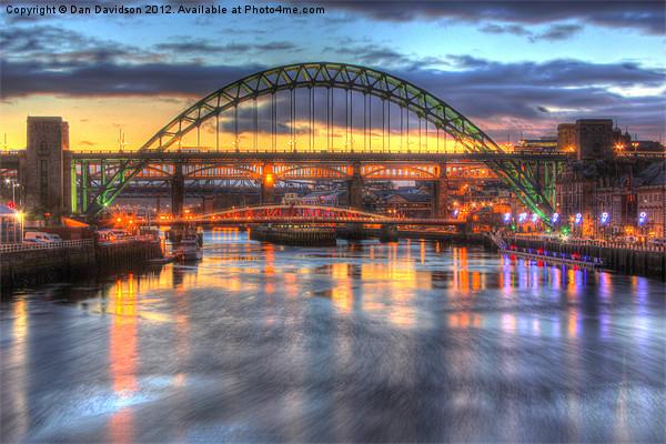 Colour on the Tyne Canvas print by Dan Davidson