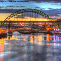 Buy canvas prints of Colour on the Tyne by Dan Davidson