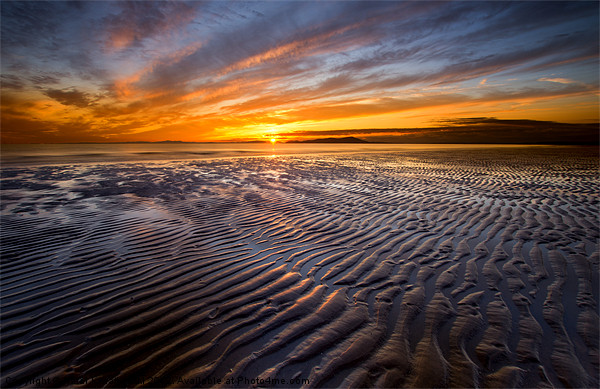 Allonby sunset Canvas print by R K Photography