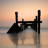 Buy canvas prints of Happisburgh-sunrise by R K Photography