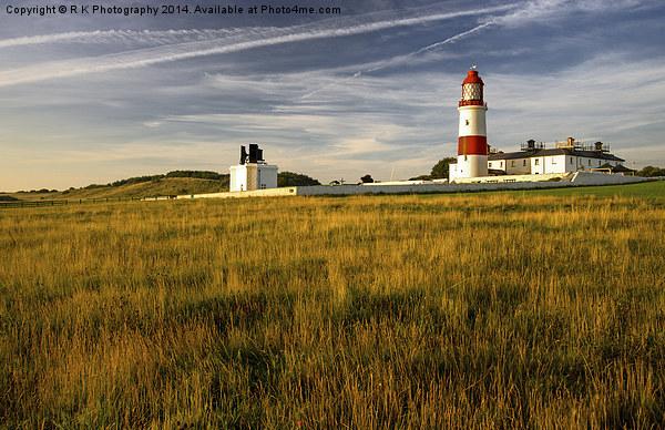 Sunrise Souter Lighthouse Canvas print by R K Photography