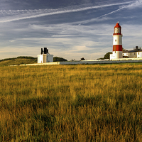Buy canvas prints of  Sunrise Souter Lighthouse by R K Photography