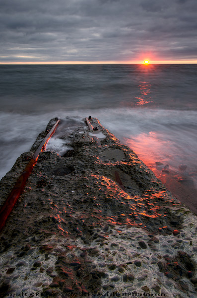 Aberystwyth sunset Canvas print by R K Photography
