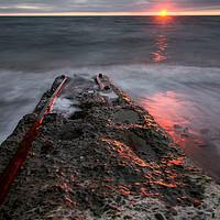 Buy canvas prints of  Aberystwyth sunset by R K Photography