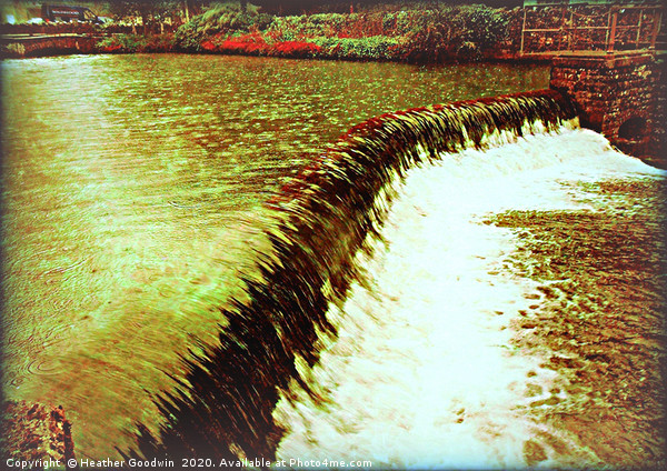 Fast Flowing Water Canvas print by Heather Goodwin