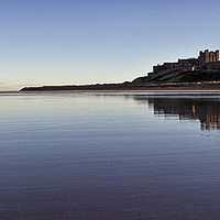 Buy canvas prints of Bamburgh Castle Panorama by David Pringle