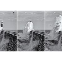 Buy canvas prints of Tynemouth Pier Triptych by David Pringle