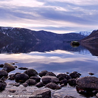 Buy canvas prints of Loch Muick reflections by alan bain