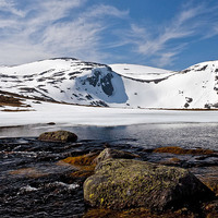 Buy canvas prints of  Loch Etchachan Cairngorms by alan bain
