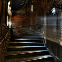 Buy canvas prints of Oak Stairs by Nathan Wright