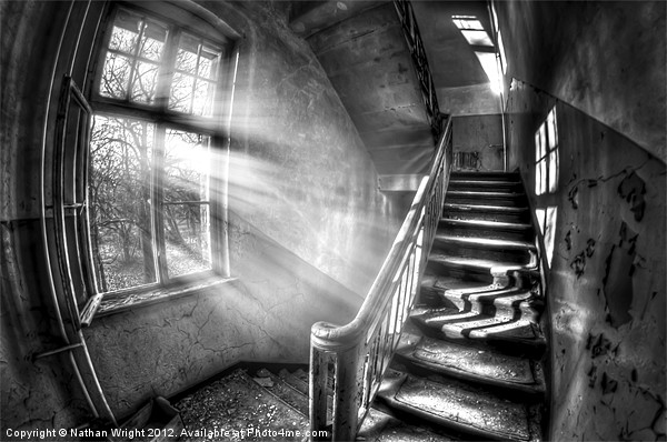 Evening urbex Canvas print by Nathan Wright