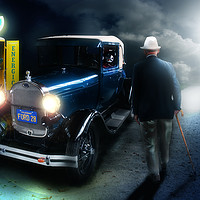 Buy canvas prints of Old timer by Nathan Wright