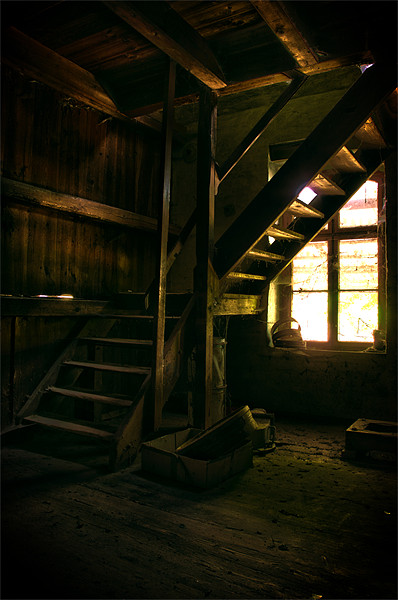 Mill steps Canvas Print by Nathan Wright