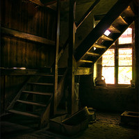 Buy canvas prints of Mill steps by Nathan Wright