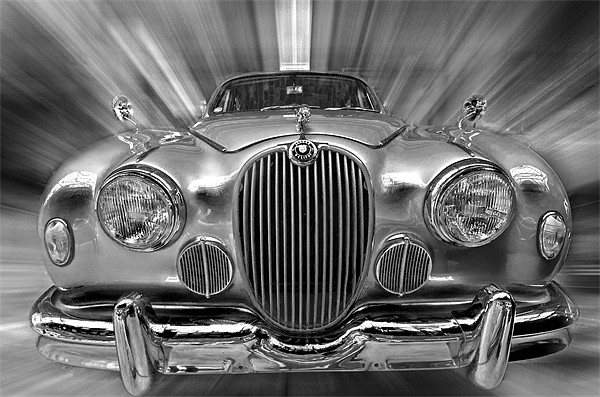 Old Jaguar S Canvas print by Nathan Wright