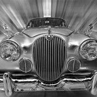 Buy canvas prints of Old Jaguar S by Nathan Wright