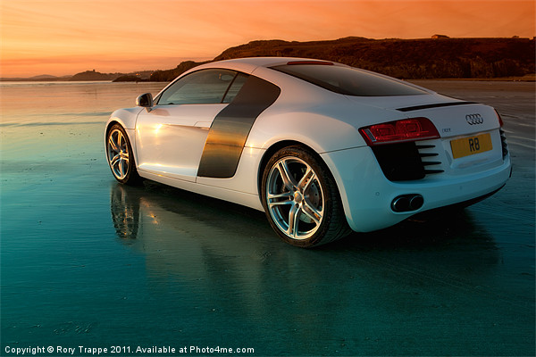 R8 on the beach 2 Print by Rory Trappe