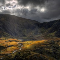 Buy canvas prints of The river from Llyn Idwal by Rory Trappe