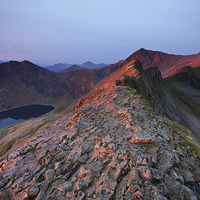 Buy canvas prints of  Crib Goch by Rory Trappe
