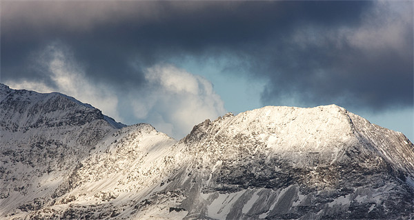 Crib goch on Snowdon Canvas Print by Rory Trappe
