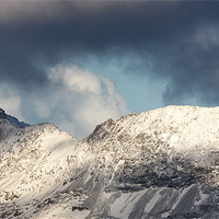 Buy canvas prints of Crib goch on Snowdon by Rory Trappe