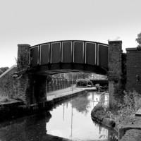 Buy canvas prints of Bridge over Rochdale Canal.  by Jacqui Kilcoyne