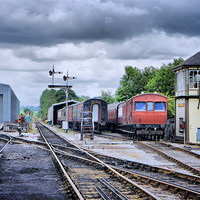Buy canvas prints of Embsay Station by Jacqui Kilcoyne
