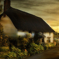 Buy canvas prints of Cornish Cottage by Irene Burdell