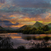 Buy canvas prints of Derwent Water. by Irene Burdell