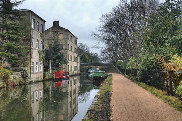 Rochdale Canal at Hebden Bridge Canvas Print by Irene Burdell