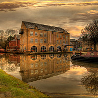 Buy canvas prints of Dusk along the Rochdale canal by Irene Burdell