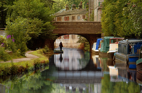 Rochdale Canal  Canvas Print by Irene Burdell