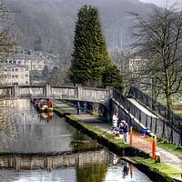 Buy canvas prints of Hebden Bridge by Irene Burdell