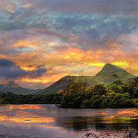 Buy canvas prints of Derwent Water Lake District by Irene Burdell