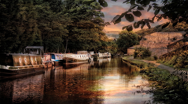 Rochdale Canal. Canvas print by Irene Burdell