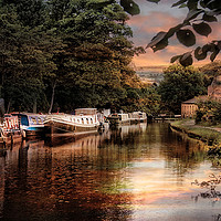 Buy canvas prints of Rochdale Canal. by Irene Burdell